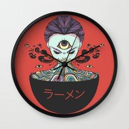 Rainbow Ramen Noodles Anime Monster Girl Wall Clock