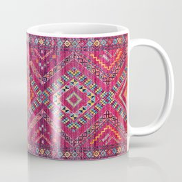 N118 - Pink Colored Oriental Traditional Bohemian Moroccan Artwork. Coffee Mug