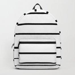 Minimalist Line Stripes Black And White Stripe Lines Backpack