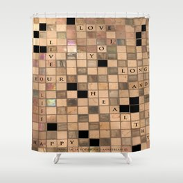 CROSSWORD LOVE Shower Curtain