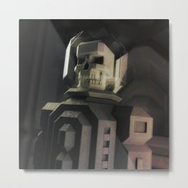 Necronaut low-polygon 3D artwork Metal Print