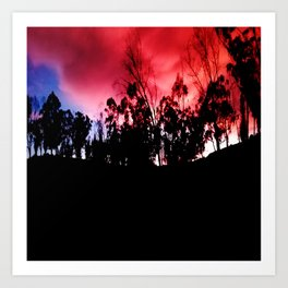 Intense mountain. Art Print