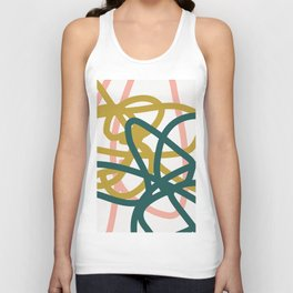Abstract Lines 02A Unisex Tank Top