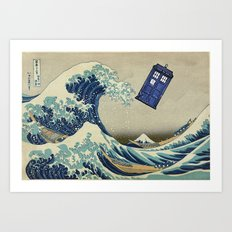 The Great Wave Doctor Who Art Print