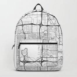 Salt Lake City Map White Backpack