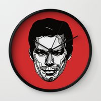 dexter Wall Clocks featuring Dexter by Dylan Morang