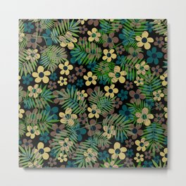 Floral. Flower pattern. Metal Print