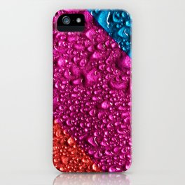 Abstract Colorful Wet Paper 01 iPhone Case