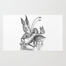 toadstool fairy Rug