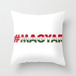 # Hashtag Magyar Throw Pillow