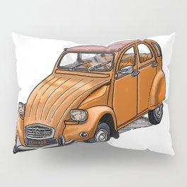 Orange 2CV Pillow Sham