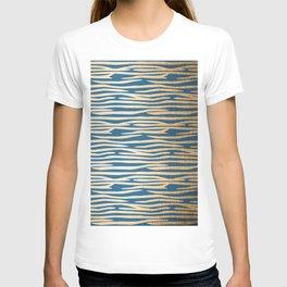 Zebra - Orange Sherbet Shimmer on Saltwater Taffy Teal T-shirt
