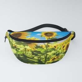 Three's Company - Trio of Sunflowers in Kansas Fanny Pack