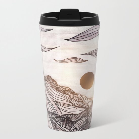 Lines in the mountains Metal Travel Mug