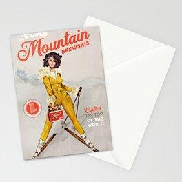 Mountain Brewskis Vintage Ski Art Stationery Cards