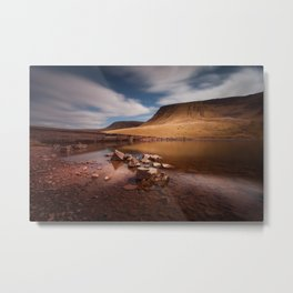 Llyn y Fan Fach Mountain Metal Print