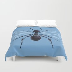 Weird Abstract Flying Ant Duvet Cover