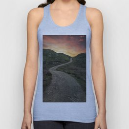 Sunset over Skye island Unisex Tank Top