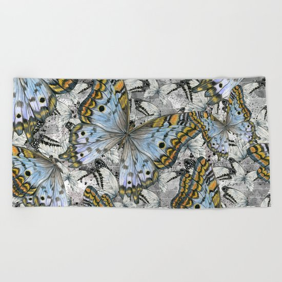Butterflies #4 Beach Towel