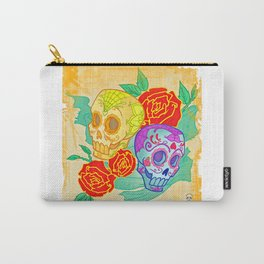 Day of the Dead Skull (4) Carry-All Pouch