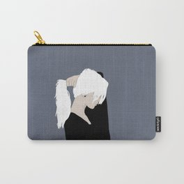 White Hair Beauty Carry-All Pouch
