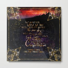 Constellation - The Star Touched Queen Metal Print
