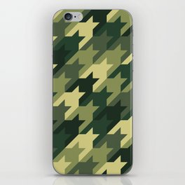 Camouflage houndstooth iPhone Skin