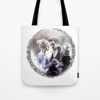 captain swan Tote Bags featuring Captain Swan by Clara J Aira