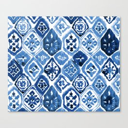 Arabesque tile art Canvas Print