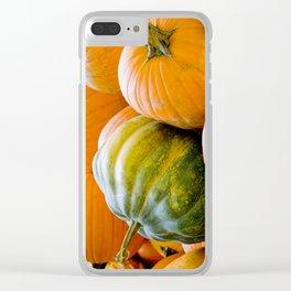 Fall: Green Pumpkin Clear iPhone Case