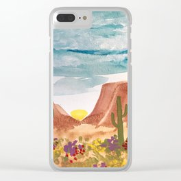 Painted Desert 3 Clear iPhone Case