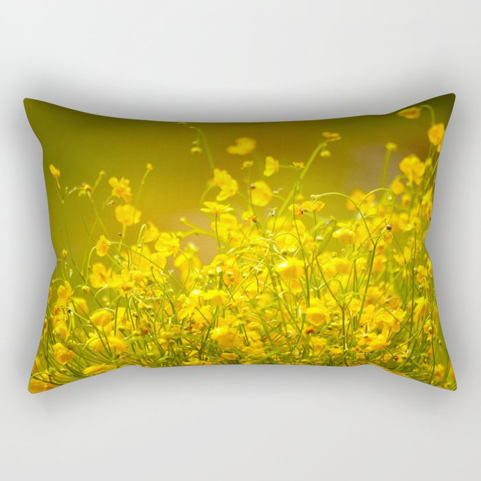 Yellow Mellow Flowers #decor #society6 Rectangular Pillow