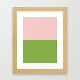 Goodbye 2016, Welcome 2017 - PANTONE Color of the Year Framed Art Print
