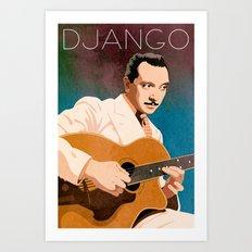 Django Reinhardt – Jazz Manouche Art Print