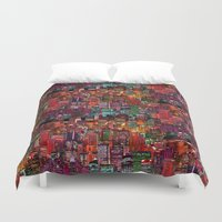 cities Duvet Covers featuring Cities on Cities by Killian Hlava