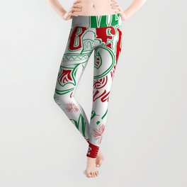 Mexican Power Color Leggings