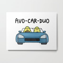 Avo-car-duo Metal Print