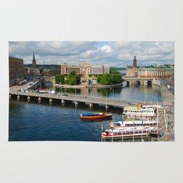 Riddarholmen Island Stockholm Sweden Cityscape Rug