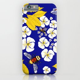 Bumbly Bees with Backbacks iPhone Case