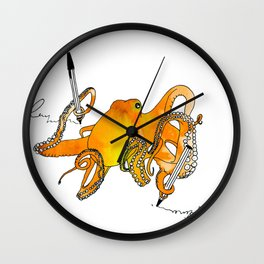 Octopens Wall Clock