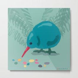 The Inspector - A Curious Bird Metal Print