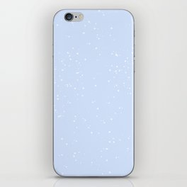 white and blue speckle iPhone Skin