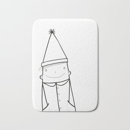 Scandinavian Hygge illustration art Bath Mat