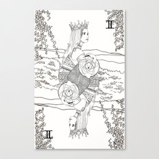 The Queen (Twins) - Black/White Canvas Print