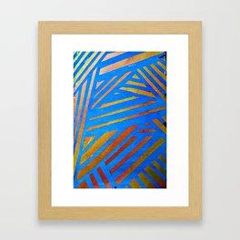 Geometric Blue Framed Art Print