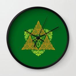 GREEN ZELDA TRIFORCE Wall Clock