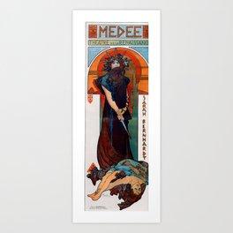 Alphonse Maria Mucha - Medee Art Print