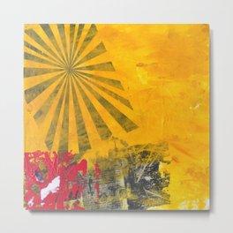 YELLOW SUNBURST Metal Print