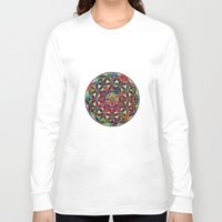 flower of life Long Sleeve T-shirts featuring Flower of Life variation by Klara Acel