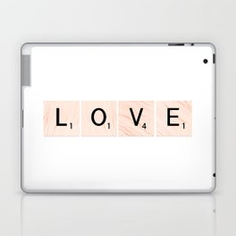 LOVE Scrabble Tiles Horizontal Laptop & iPad Skin